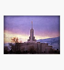 Mount Timpanogos - Lavendar Skies Photographic Print