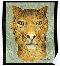 Leopard Sculpture Poster