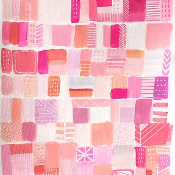 Laduree Pink Abstract Cityscape by melaniebiehle