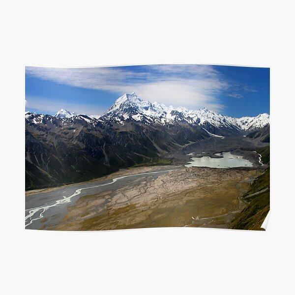 Aoraki, and Tasman Lake. Poster