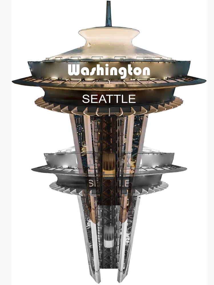 Seattle Sky Tower Double by cityartapparel