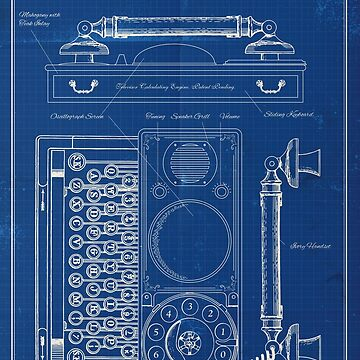 Steampunk Cell Phone - Blueprint by moviemaniacs