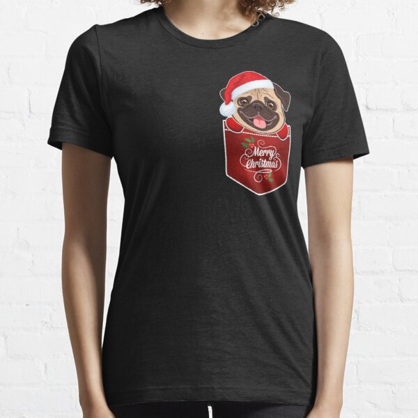 Pug in Pocket - Merry Christmas Essential T-Shirt
