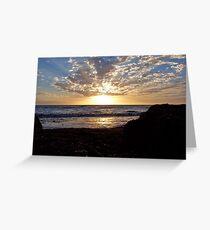 Seaweed Sunrise Greeting Card