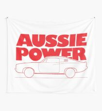 Aussie Power - Valiant Charger (Red) Wall Tapestry