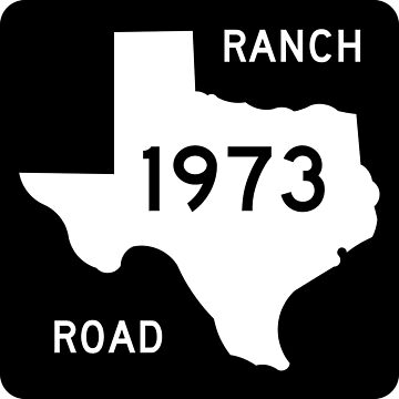 Texas Ranch-to-Market Road RM 1973 | United States Highway Shield Sign by djakri