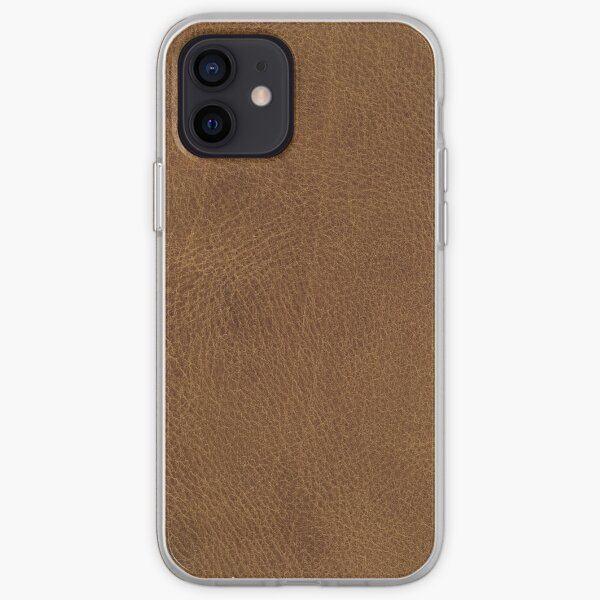Brown Leather iPhone Soft Case