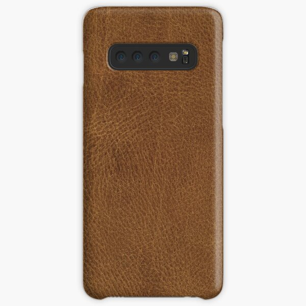 Brown Leather Samsung Galaxy Snap Case