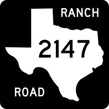 Texas Ranch-to-Market Road RM 2147 | United States Highway Shield Sign by djakri