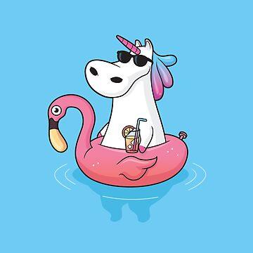 Pool Party Unicorn by zoljo