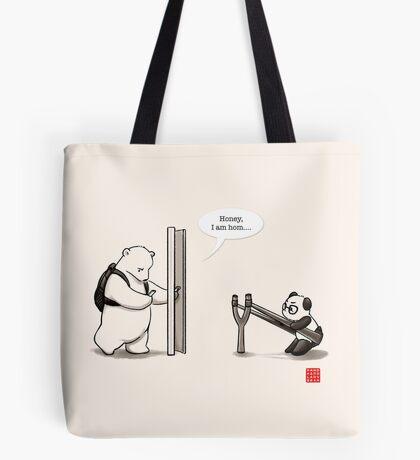 Panda Attack Tote Bag