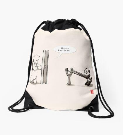 Panda Attack Drawstring Bag