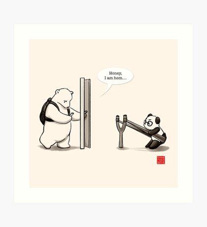 Panda Attack Art Print