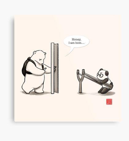 Panda Attack Metal Print
