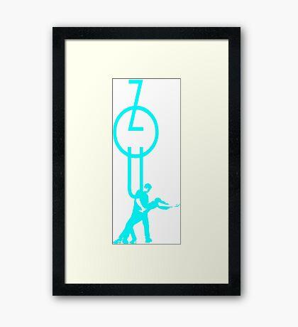 lets dance zouk - blue Framed Print