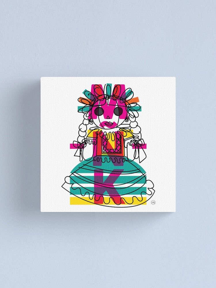 Alternate view of Doodle Doll Canvas Print