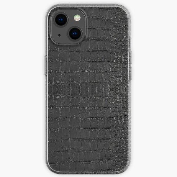 Black Alligator Skin iPhone Soft Case