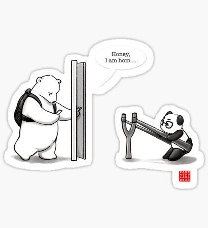 Panda Attack Sticker