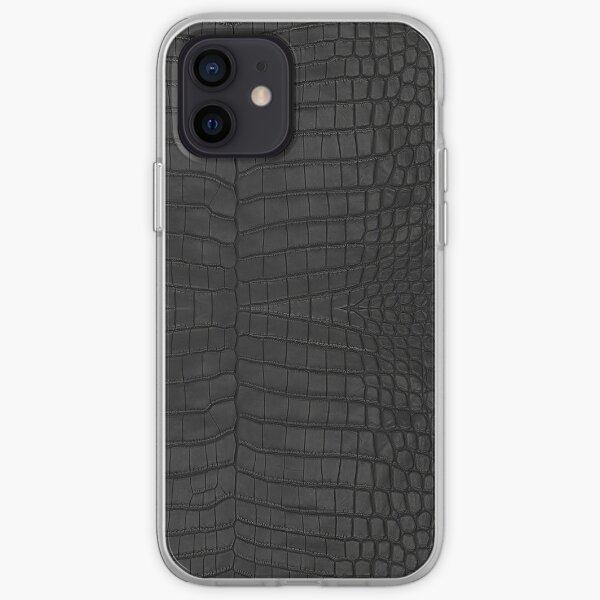 Black Crocodile Skin iPhone Soft Case