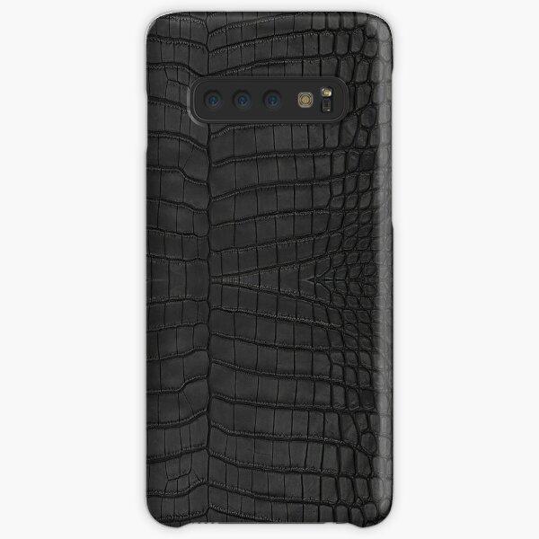 Black Crocodile Skin Samsung Galaxy Snap Case