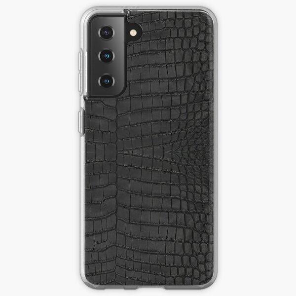 Black Crocodile Skin Samsung Galaxy Soft Case
