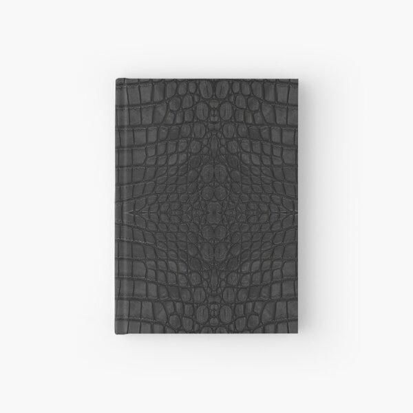 Black Crocodile Skin Hardcover Journal