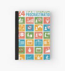 24 TIPS TO OVERCOME PROCRASTINATION Hardcover Journal