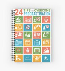 24 TIPS TO OVERCOME PROCRASTINATION Spiral Notebook