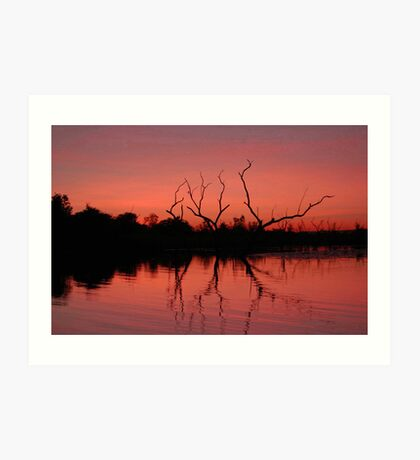 Dusk, Ord River, Western Australia Art Print