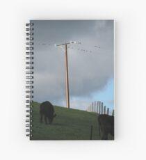Power Lines....  Spiral Notebook