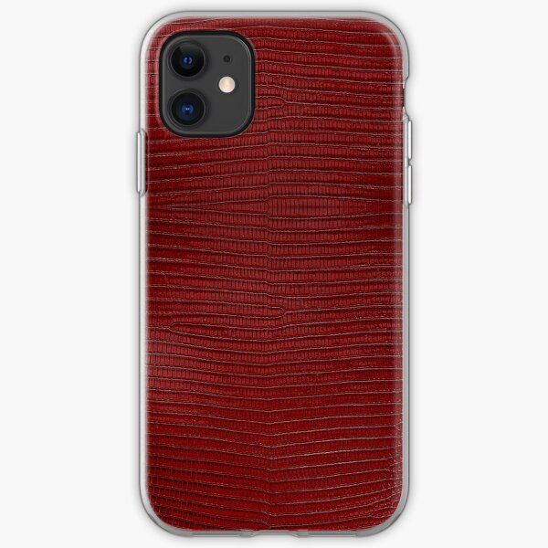 Red Lizard Leather Skin iPhone Soft Case