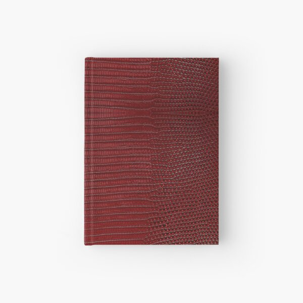 Red Lizard Leather Skin Hardcover Journal