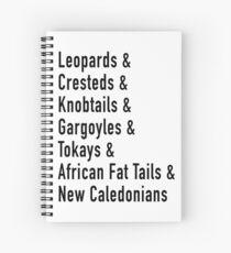 Cuaderno de espiral Y geckos