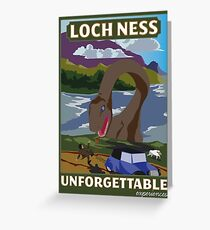 Visit Loch Ness - Green Greeting Card