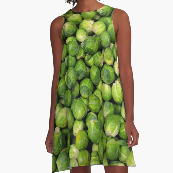 Brussels Sprouts A-Line Dress