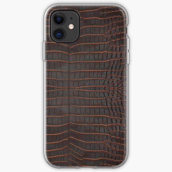 Chestnut Nile Crocodile Skin iPhone Soft Case