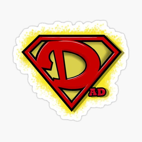 Dad Superhero - Diseño de UMD Pegatina