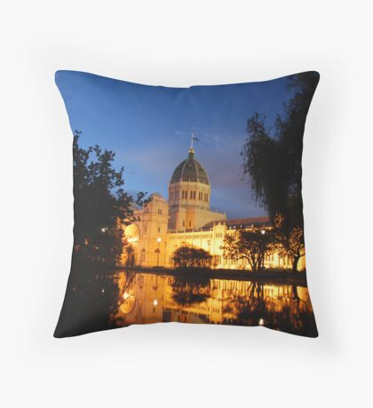 Melbourne's Exhibition Building at Dusk Throw Pillow