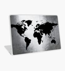World Map Metal Laptop Skin