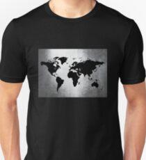 World Map Metal Unisex T-Shirt