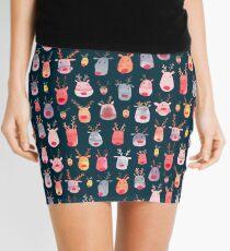 Reindeers - Animal cuteness - Winter watercolor pattern - Rudolph Mini Skirt