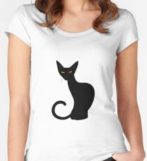 Black cat Women's Fitted Scoop T-Shirt