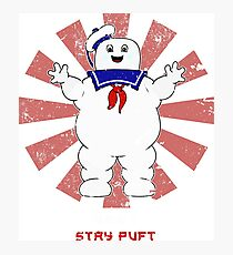 Stay Puft Retro Japanese Ghostbusters Photographic Print