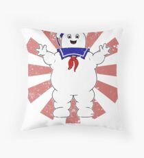 Stay Puft Retro Japanese Ghostbusters Throw Pillow