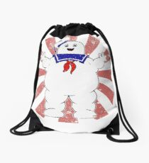 Stay Puft Retro Japanese Ghostbusters Drawstring Bag