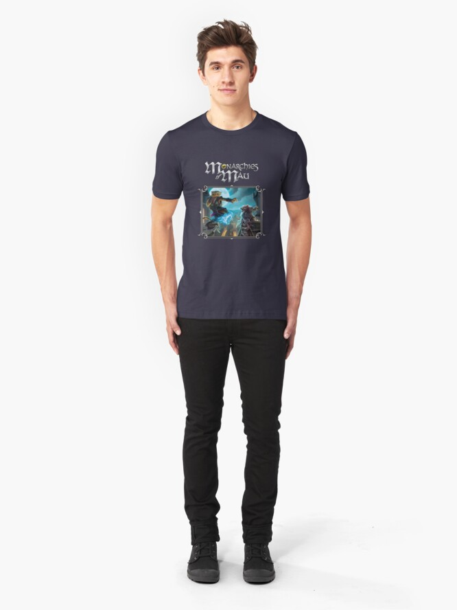 Alternate view of Monarchies of Mau Cover Art Slim Fit T-Shirt