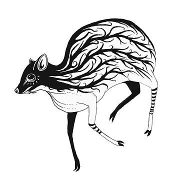 Mouse Deer Inked (Only Deer) by LukeMartinsArt