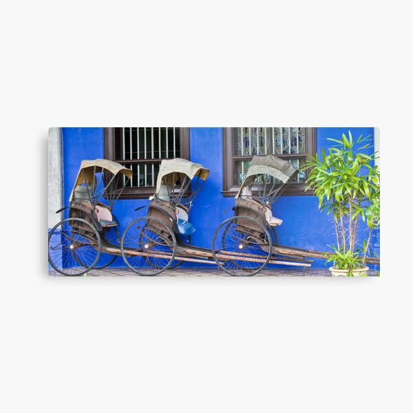Rickshaws - Penang Metal Print