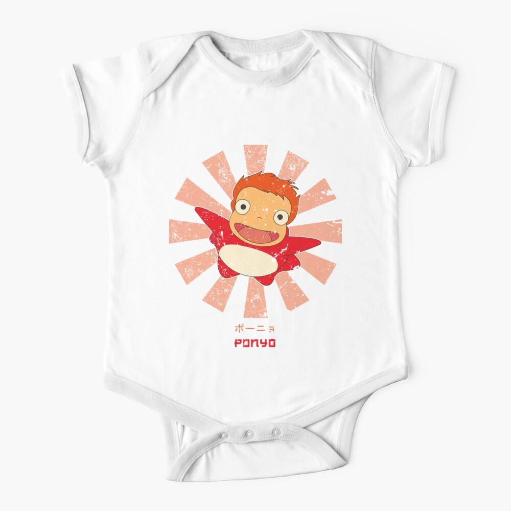 Ponyo Retro Japonés Body para bebé