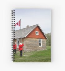 The Flag Raising, Canada Day 2010 Spiral Notebook